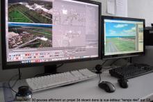 Ecran NEC 30' vue éditeur temps réel/écran de rendu